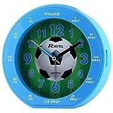 Ravel Boys Time-Teacher Soccer Football Blue Quite Sweep Alarm Clock with Snooze