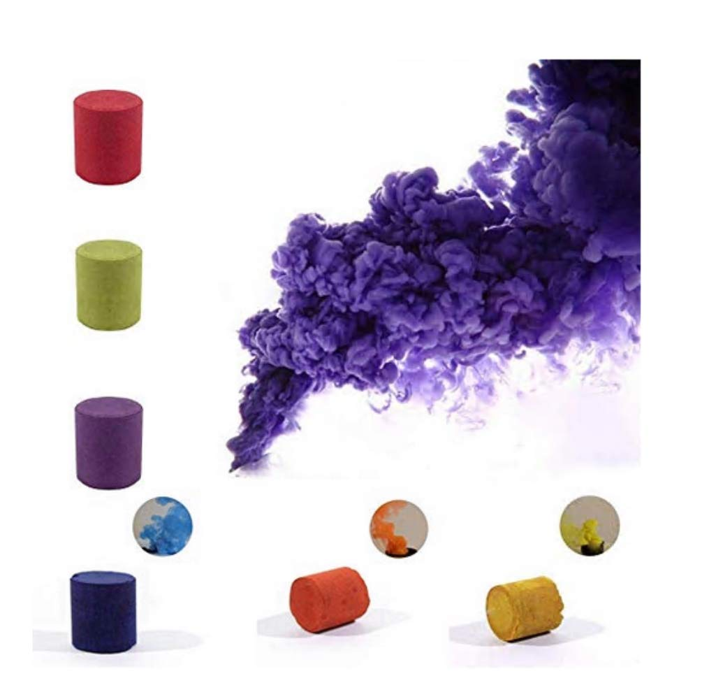 Smoke Bombs Photography (Random Colors - Set of 7) for Studio Photography Props Smoke Cake Advertising Studio Film Drama Exhibition (Random Colors - Set of 7) SHANSHUIYIPIN