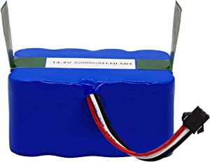 Replacement Battery Compatible with Hovo 510 Series and bObi Robotic Vacuums 14.4V, 2200mAH, NIMH Rechargeable Battery.