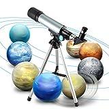 Telescope, Kictero 90 X Refractor Telescope, Astronomy Telescope,Edu Science Telescope Tabletop Nature Exploration Toys for Kids / Adults Sky Star Gazing / Birds Watching
