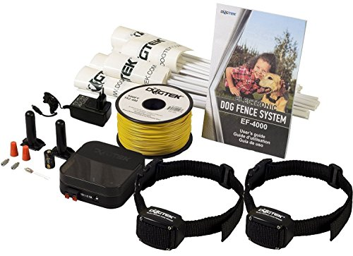 Electric Dog Fence - DOGTEK Underground Pet Containment System - 2 Dog Kit - 1000' Perimeter Wire by Dogtek