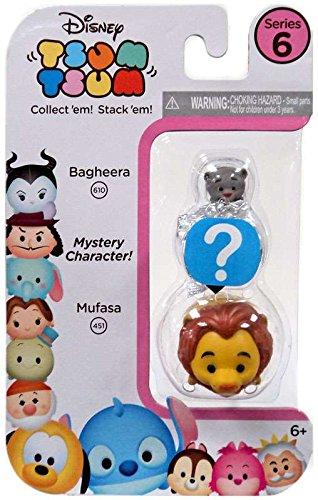 Disney Tsum Tsum Series 6! 3-Pack Figures: Bagheera/Mystery/