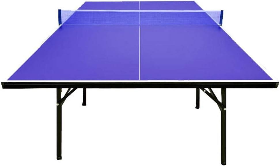 LiChenYao Mesa De Tenis De Mesa para Entrenamiento En Interiores, Mesa De Ping-Pong Plegable con Red, 2 Palas Y Pelotas, Mesa De Tenis De Altura De Regulación Mediana Compacta