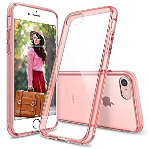 iPhone 7 Case, Ringke [FUSION] Crystal Clear PC Back TPU Bumper [Drop Protection/Shock Absorption Technology] Raised Bezels Protective Cover For Apple iPhone 7 2016 - Rose Gold Crystal