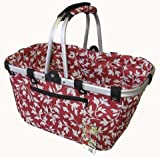 Vivid Allon NB009-L Collapisble Basket - Red Floral