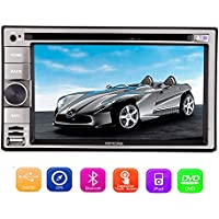 Eincar Double Din Sat Nav 6.2 inch Windows CE 8.0 Head unit GPS Car DVD Player support AM/FM Radio SD/USB/1080P/SWC/iPod/Cam-input Autoradio Bluetooth Stereo Multimedia system Capacitive Touchscreen