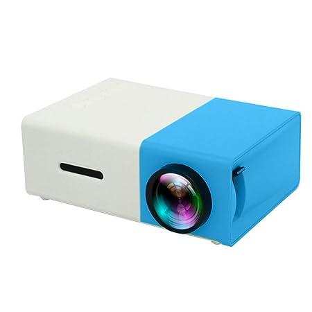 LINHU El Mini proyector Portable LED, 1080P, HDMI USB Proyector ...