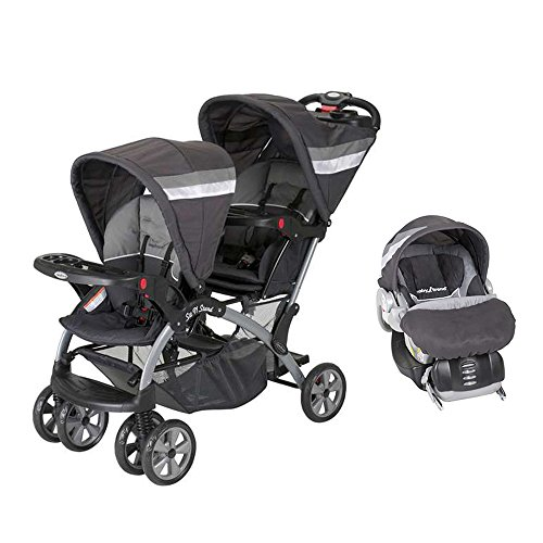 Baby Trend Sit And Stand Double Stroller Carbon - 2