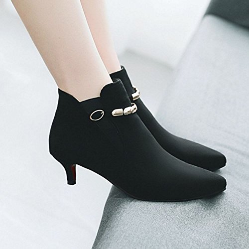 Big Lace Black Size 4 Boots up Ankle Melady Fashion Women IPxwYZ