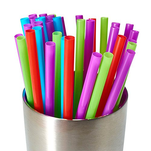 Assorted Colors Smoothies Straws, Drinking Straws, Mason Jar Straws, 6-1/2 inches, 200 (Halloween Crafts For Preschoolers Easy)