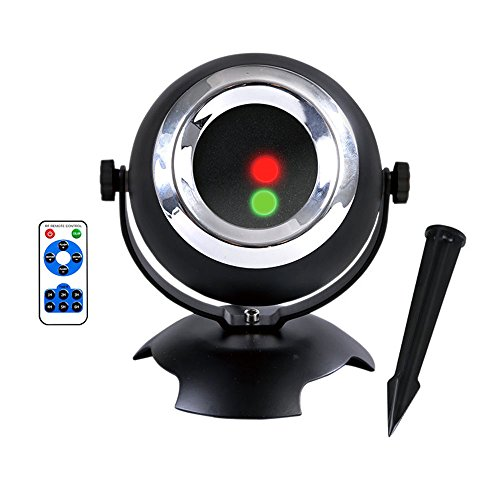 Christmas Laser Light, Christmas Projection Light IP65 Waterproof Outdoor Landscape Light RF Remote Control 24 Pattern Dynamic Static Holiday Party Lights(Red/green)