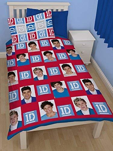 Copripiumino Singolo One Direction.Craze One Direction Completo Copripiumino Singolo Reversibile
