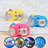 Anniston Kids Toys, Fun Cartoon Light Projection Camera Toy Baby Kids Cognition Educational Toys Pretend Play for Baby Children Toddlers Boys & Girls, Random Color