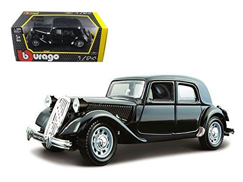 Scale Model Tugs - Bburago 22017 1938 Citroen 15 CV TA Black 1/24 Diecast Car Model