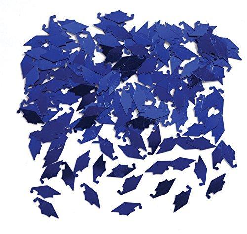 Creative Converting Graduation Caps Confetti, Blue (3-Pack) ()