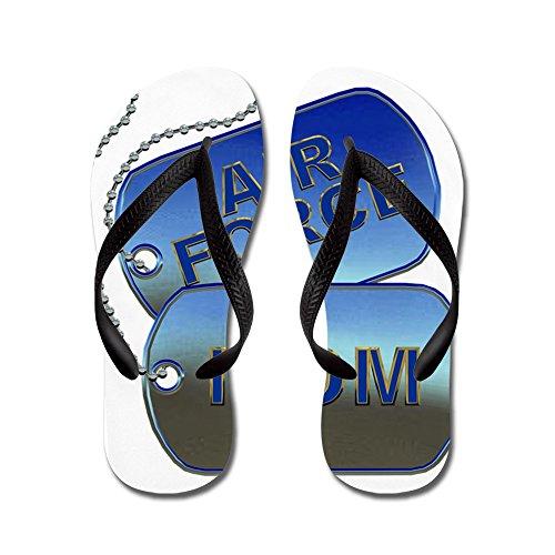 CafePress Air Force Mom Dog Tags - Flip Flops, Funny Thong Sandals, Beach Sandals Black