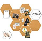 laundry room makeovers Moi Doi Wall Decor,Bulletin Board,Cork Tiles,Hexagon Cork Board with Adhesive Backing Memo Boards Message Board for Office/Home/Kitchen/Dorm Room,7 Pack +30 PINS