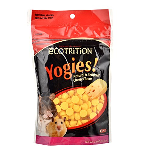 Ecotrition Yogies Hamster/Gerbil/Rat Treats, Cheese Flavor, 3.5-Ounce from eCOTRITION