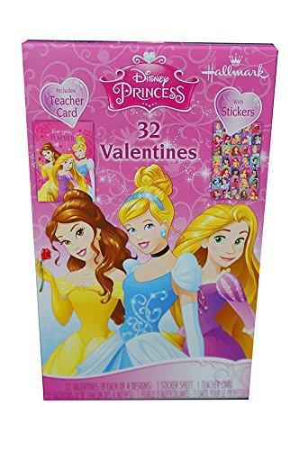 [해외]Bonus Princess Mailbox Bundle이있는 발렌타인 데이 카드 (32 개의 카드 및 스티커)/Princess Valentine Cards (32 Cards and Stickers) with Bonus