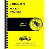 New John Deere RWA Disc Harrow Parts Manual