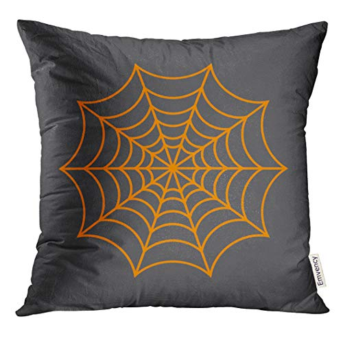 Golee Throw Pillow Cover Black Halloween Spider Network
