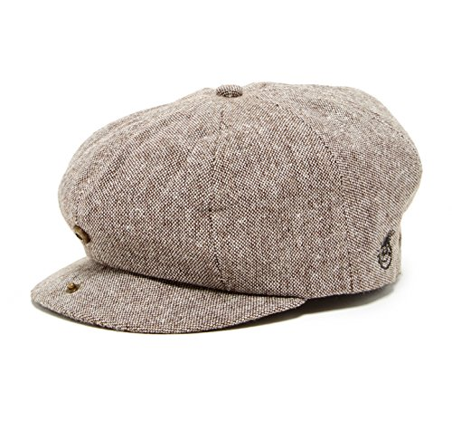 Born to Love - Toddler and Boy's Hat Tan and Brown Newsboy Cap (NB ( 3-6 months 43 cm) vintage w/logo)