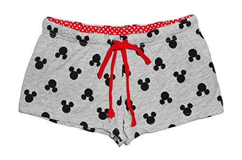 Disney Juniors Mickey Mouse Heads Pajama Shorts--heather Gray, Extra Large