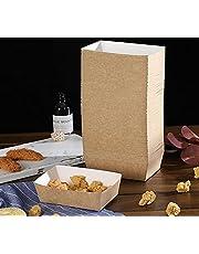 KAHEIGN 100 stuks Mini Loaf Cake Cases, Wegwerp Papier Bakvormen 100% Natuurlijk Recyclebaar Papier Bruine Mallen voor Cakes Brood Muffins - 15 x 9,5 cm