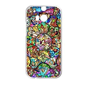Canting_Good Stained Glass Custom Case Shell Skin for HTC One M8 (Laser Technology)