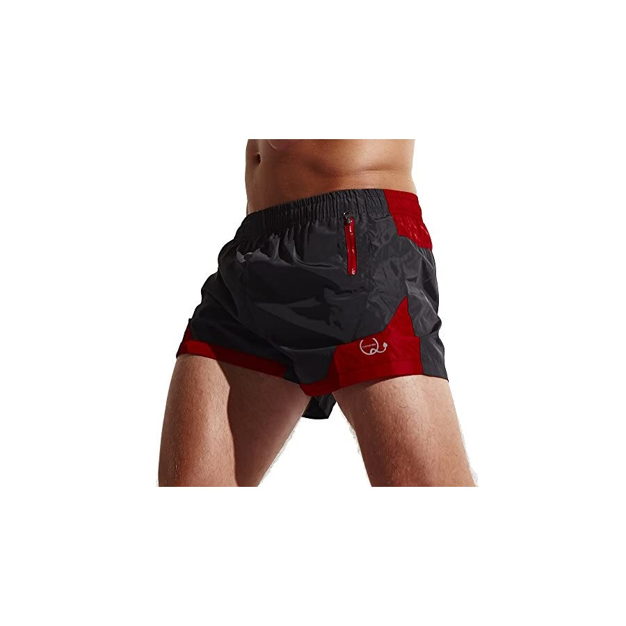 Funycell Men's Shorts Swim Trunks with Zipper Pockets
