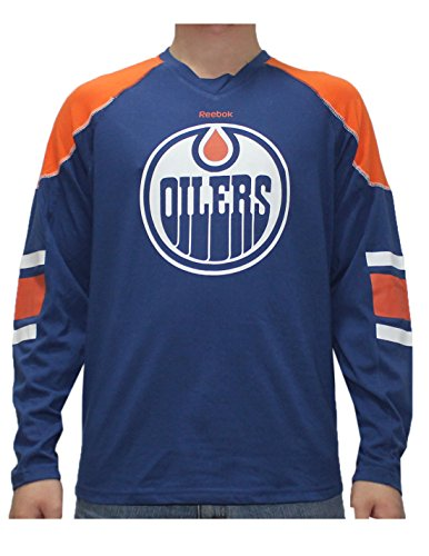 fan products of NHL EDMONTON OILERS Mens Game Day Hockey Training Shirt XL Blue