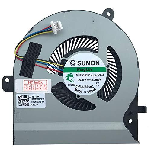 (Version CPU) Lüfter Kühler Fan Cooler kompatibel für Asus VivoBook Flip 15 TP510UA, TP510UF, TP510UQ, TP510