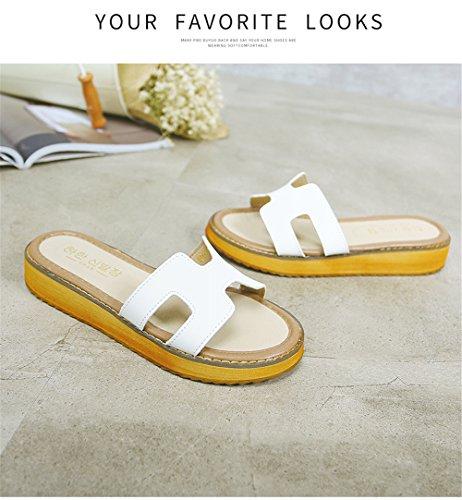 9936efe4e9b1b On Sandals White Sandals Women s Toe Peep Wedge Slide LYLIFE Platform Slip  ...