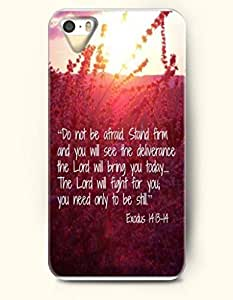 For SamSung Galaxy S6 Phone Case Cover Hard with Design Do Not Be Afraid. Stand Firm And You Will See The Deliverance The Lord Will Bring You Today.... The Lord Will Fight For You; You Need Only To Be Still. Exodus 14:13-14- Bible Verses - For SamSung Galaxy S6 Phone Case Cover