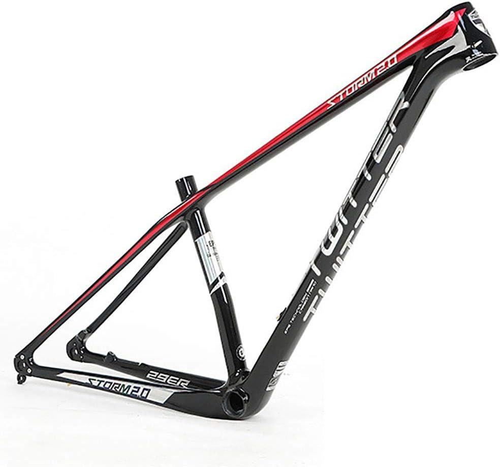 MTB marco Marco de fibra de carbono Bicicleta Marco de montaña de eje de barril de fibra de carbono Marco de 27,5 pulgadas de 29 pulgadas de alto módulo de carbono de bicicleta de 18K marco de fibra d
