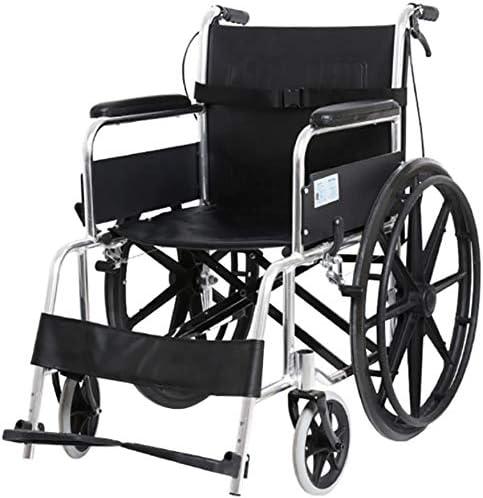 XRZYアルミニウム車椅子、電動四輪スクーター、トランジット旅行車椅子無効折りたたみ自己自己推進車椅子超救急車椅子穿刺抵抗ホイール