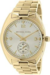 Michael Kors Callie Champagne Dial Gold-tone Unisex Watch MK3344