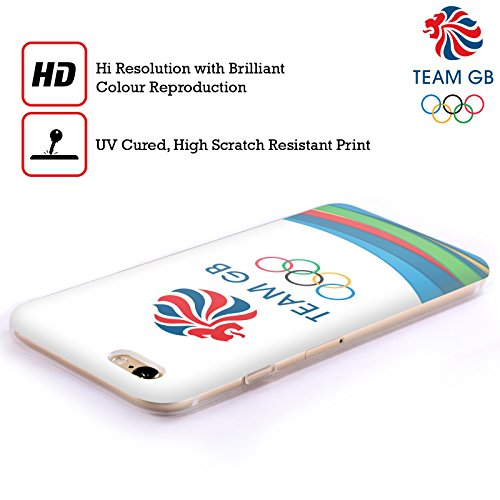 Official Team GB British Olympic Association Fluid Bands 3 Rio Soft Gel Case for Apple iPhone 5c