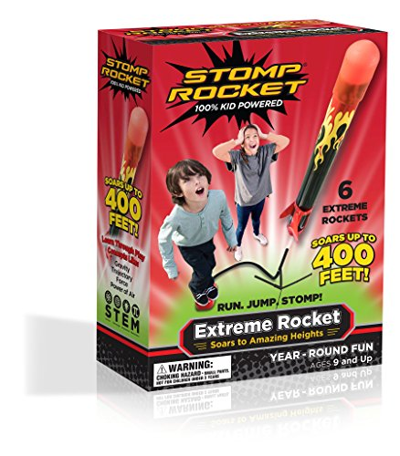 Stomp Rocket The Original Extreme Rocket (Super High Performance), 6 Rockets [Packaging May (Stomp Rocket)