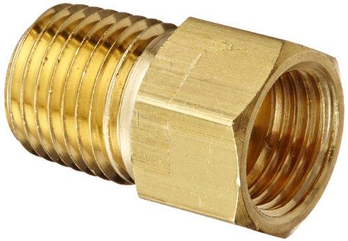 (Eaton Weatherhead 202X5X4 Brass CA360 Inverted Flare Brass Fitting, Adapter, 1/4