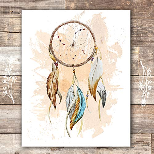 Dreamcatcher Wall Art Print - Unframed - 8x10 | Native American Decor -