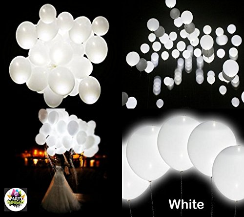 Party Tonight 15 Pk Balloons White Colors : LED Balloons. Great for All Occasions: Wedding ,Birthdays, Holidays, Anniversary & Gift For Kids! Enjoy The Ultimate Balloons For Any Party