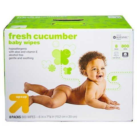up & upTM Cucumber Baby Wipes, 800 Count (Target Brand Wipes)