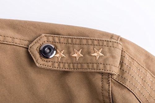 Manteaux Voler Blousons Coton Bomber Cotton Militaire Lightweight Automne Multi khaki Jacket Outdoor Yyzyy Veste Mens Nouveaux poche Printemps Homme 9931 qSwIxg0P