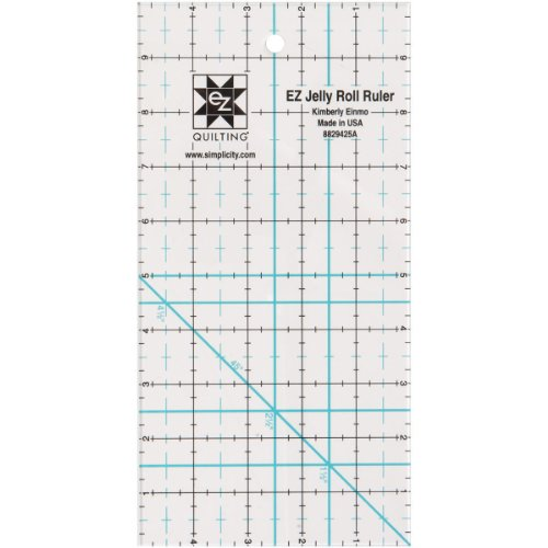 Simpli-EZ 8829425 Jelly Roll Ruler Quilting Tool, 5-Inch by 10-Inch by Simplicity Creative Group, Inc