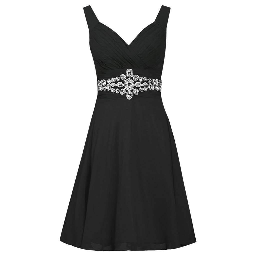 POTO Women\'s Plus Size Dress Halter Slim Beaded Chiffon ...