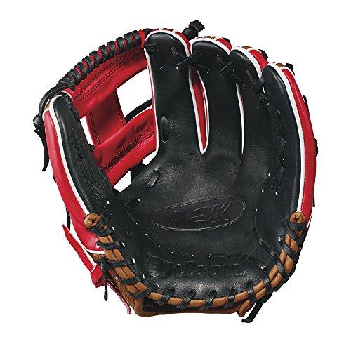 """Wilson 2017 A2k Brandon Phillips Game Model Baseball Glove, Redsaddle Tan, 11.5"""", Left Hand"""