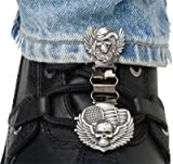 Ryder Clips Laced Boots Two Clip Version - Skull/Wings SWL-FC