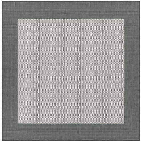 Couristan Recife Checkered Field Rug Checkered Field/Grey/White/8'6