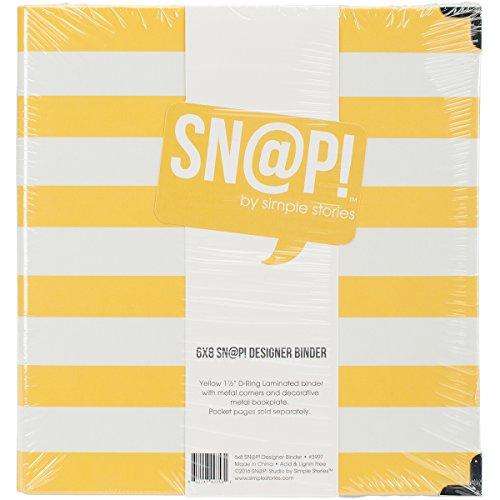 Simple Stories Snatp! Striped Designer Binder, 6